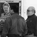 Mike with President Clinton: 1996