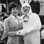 Mike dressed as a bunny: 1977