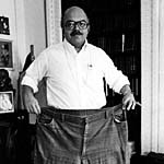 Mike with large pair of pants: 1978