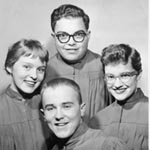 Mike in a quartet: 1957